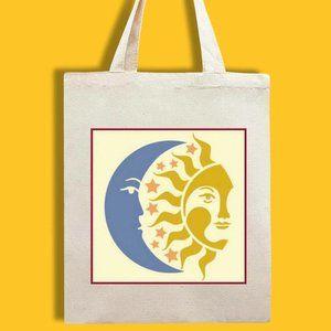 Sun & Moon Canvas Tote Bag